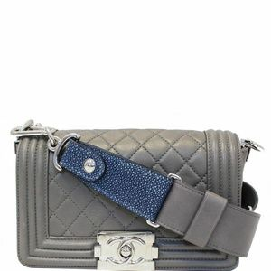 CHANEL BoyFlap with Stingray Lambskin Shoulder Bag